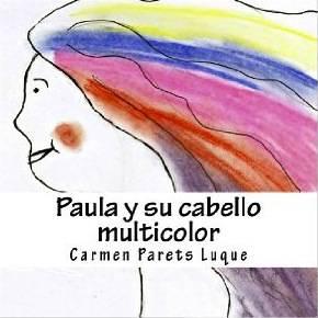 foto Paula y su cabello multicolor